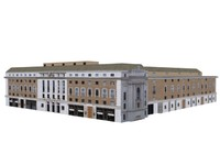3d grand european building structure