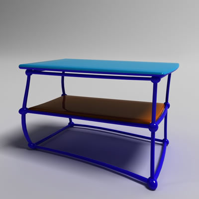 lightwave cartoon coffee table