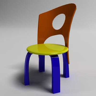 3ds max cartoon chair