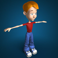 boy cartoon 3d model