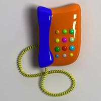 cartoon phone 3d model