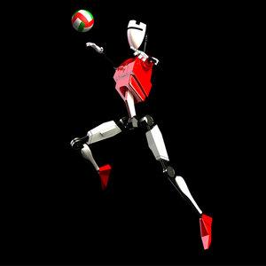 c4d robot droid