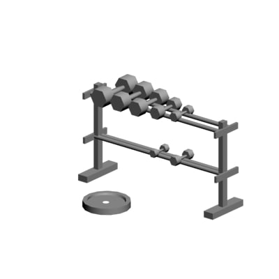 barbell weight 3d max