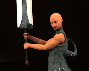 ninja sword 3d model