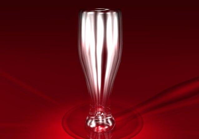 3d model x-tall beer glass