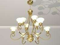 Brass Chandelier Light - 10 Shade