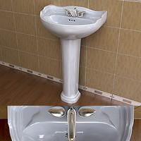 TOTO Dartmouth Sink & Moen Villeta Faucet Set