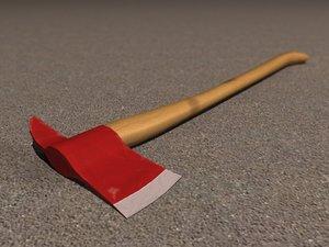 3d model axe emergency weapon