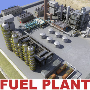 3d model fuel plant