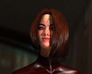 3d model woman guns
