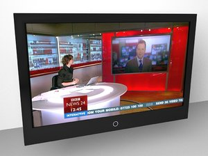 3d model lcd flat panel tv