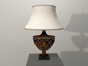 lamp distressed 3d model