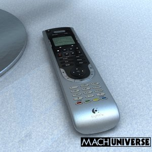 logitech harmony 525 remote control 3d model