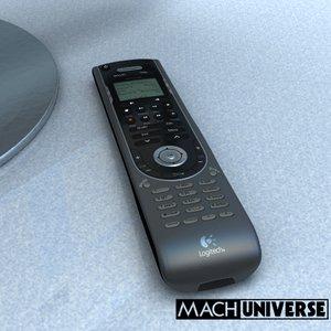 logitech harmony 550 remote control 3d model