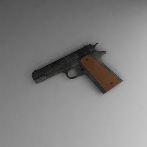 m1911 colt 3d lwo