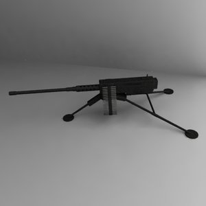 3d model m2 browning