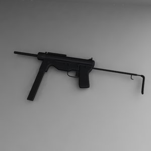3d model m3a1 army weapon
