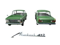 3d car 1500 moskvitch 412