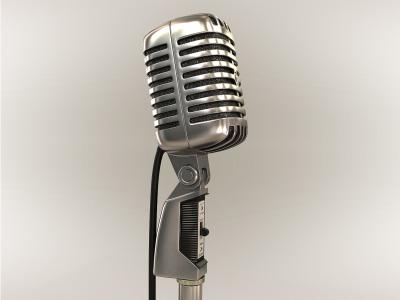 classic microphone 3d max