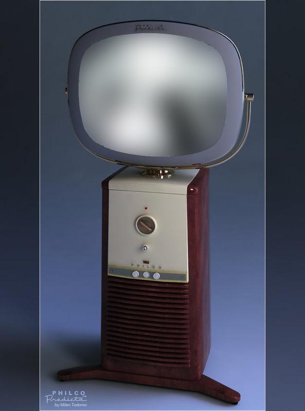 philco predicta old classic 3d obj