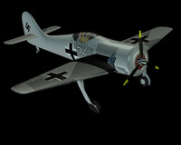 free german wwii focke wulf 3d model