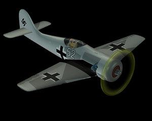 free german wwii focke wulf 3d model