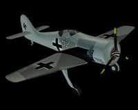 free german focke wulf fw 190 3d model