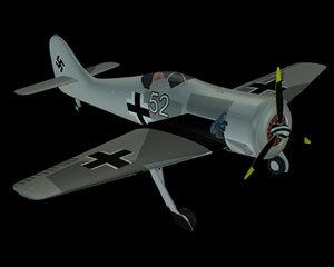 free german focke wulf fw 190 3d model
