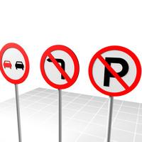 road sign 3d model