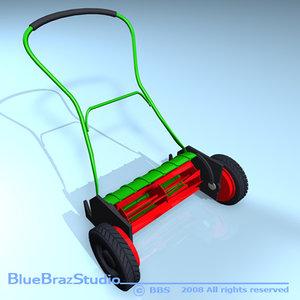 push mower 3d model
