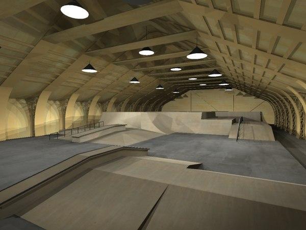 indoor skating 3d model