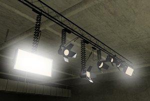 3d studio set lights model