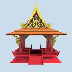 thai pavillion 3d max