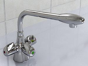 realistic franke triflow moderne 3d dxf
