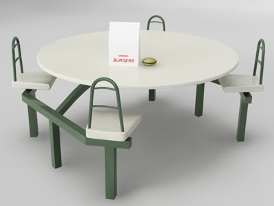 outdoor table 3d model