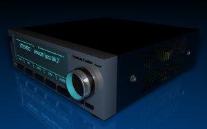 stereo amplifier 3d model