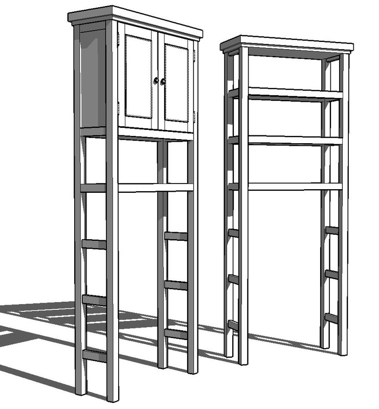 3d bathroom etagere cabinet. Black Bedroom Furniture Sets. Home Design Ideas