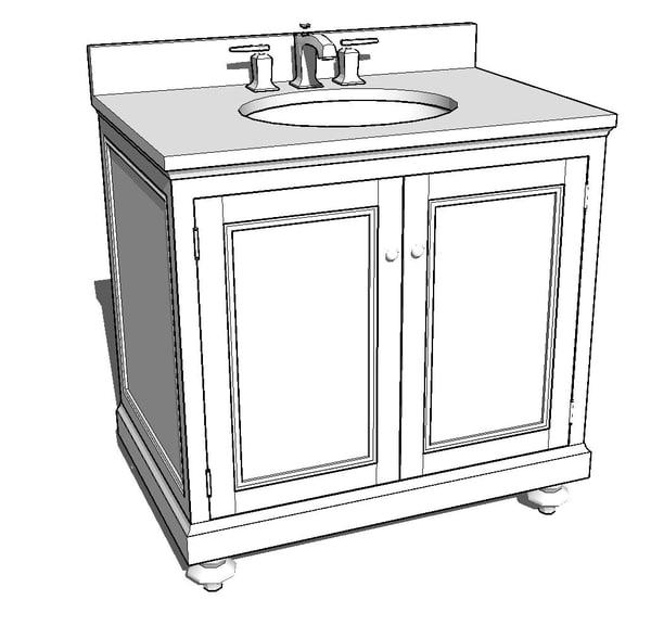 3d model bathroom faucet
