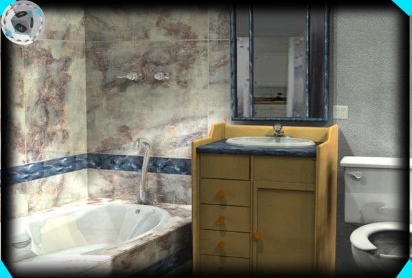 3ds max bathroom