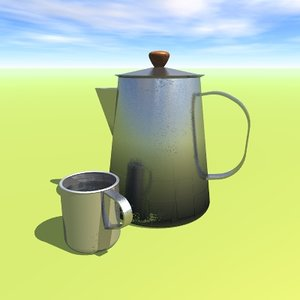 free 3ds model vob coffee pot cup