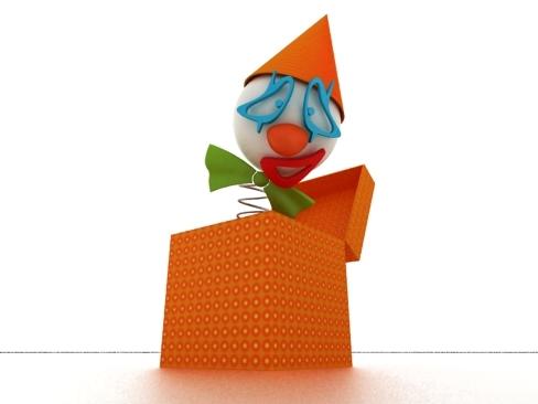 clown surprise box max