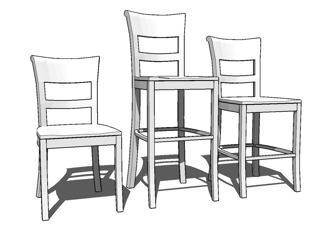 3d dining room chairs