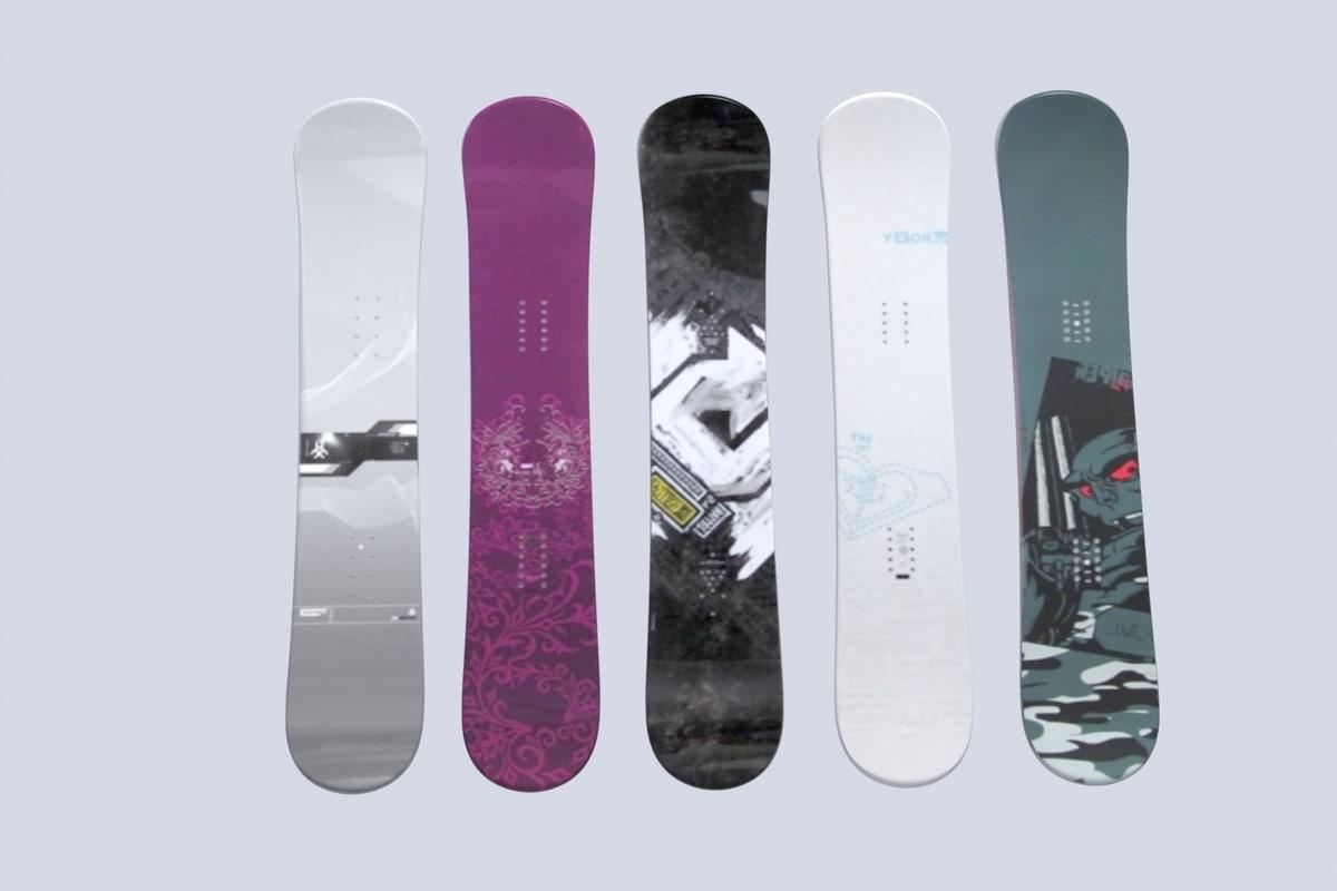3d snowboard set