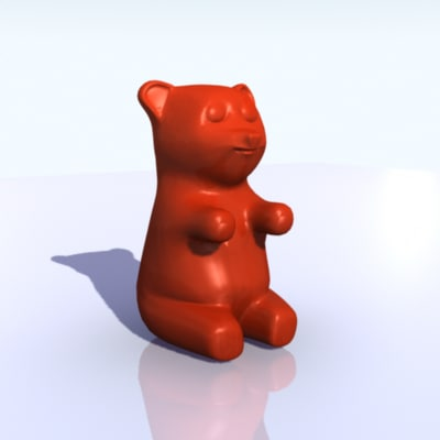 gummy bear 3d model
