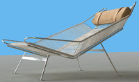 Lounge Chair, Hans Wegner flag line chaise