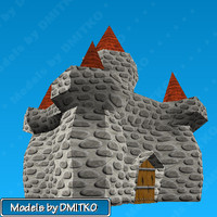 3d obj castle fairy