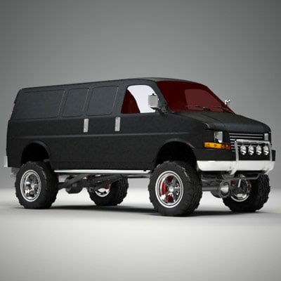 3ds max van 4x4 lift