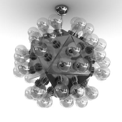 3d model flos taraxacum 88 suspension