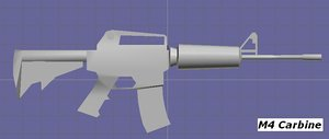 free m4 carbine 3d model