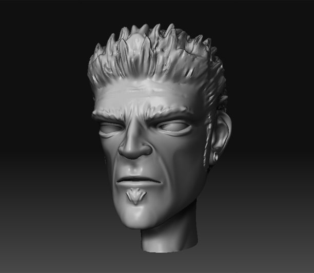 stylized man 3d model